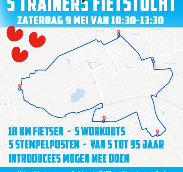 5 trainers fietstocht