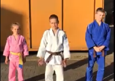 judo workout Jesse Senn en Jadey 20 april